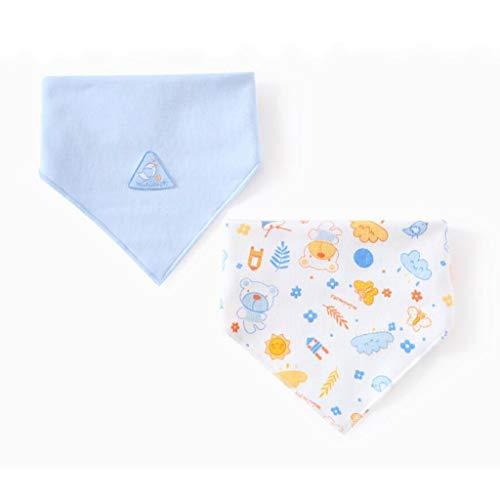 Reeseiy Living House Baby Triangle Bavoir Chic Casual Coton 0 2 Ans Taille Nouveau Né Double Printemps Et D'Été 2 Pc Ensemble (Couleur Bleu Taille 1 Ensemble) (Color : Blau, Size : 1 Set)