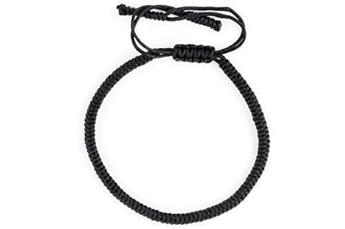 Dowling Brothers One Tibetan Monk Lucky Minimal Rope Buddhist Handmade Knot Bracelet … (Black)
