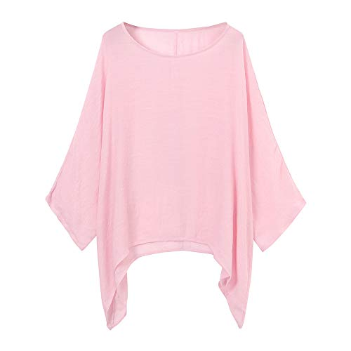 VEMOW Blusas Mujer Tops Damas de Mujer Camisetas Casual Talla Grande Algodón...