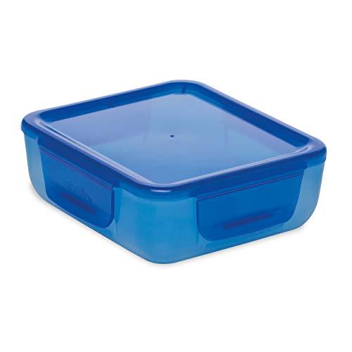 Aladdin Easy-Keep Lunch Box Auslaufsichere Brotdose, | BPA-frei | Essensbehälter mit abnehmbarem Klappdeckel Mikrowelle | Geeignet für die Spülmaschine, Blau, 0.7 L