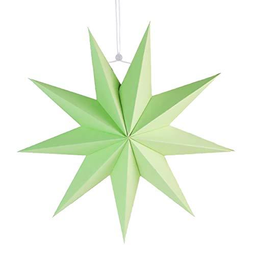 SUPVOX Papier Lampenschirm Handmade Star Lantern Umweltfreundliche Lampe Zubehör 30cm (Mintgrün)