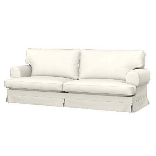 Soferia Bezug fur IKEA EKESKOG 3er-Sofa, Stoff Majestic Velvet Creme