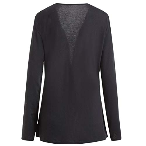 Winter Coats Jackets for Women Plus Size Tops Blouse Checked Shirt Long Sleeve Coat Black 3XL