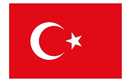 Queenshiny® Europa Länder Nationalflaggen Fahne/Flagge 90 x 150 cm - Türkei
