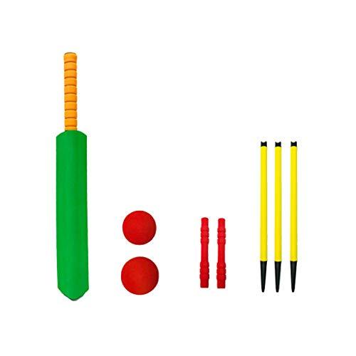 LIfav Outdoor Kids Cricket Set, Hinterhof Cricket-Sets, Fledermäuse Stumps Bails Ball Federbasis, NBR Schaum Cricket Set Sport-Kind-Spielzeug Indoor Outdoor Garten Spielen