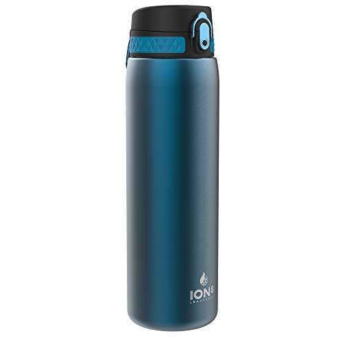 Ion8 Acero Inoxidable Botella Agua, Sin Fugas, Azul, 1000ml