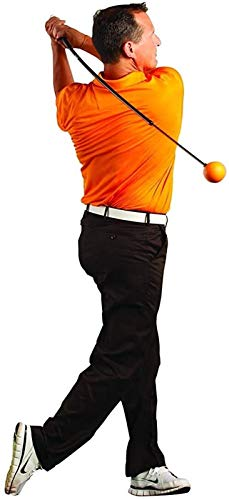 QQZJ Professional Full-Sized Golf Swing Trainer Aid - for Improved Rhythm, Flexibility, Balance, Tempo, and Strength 106