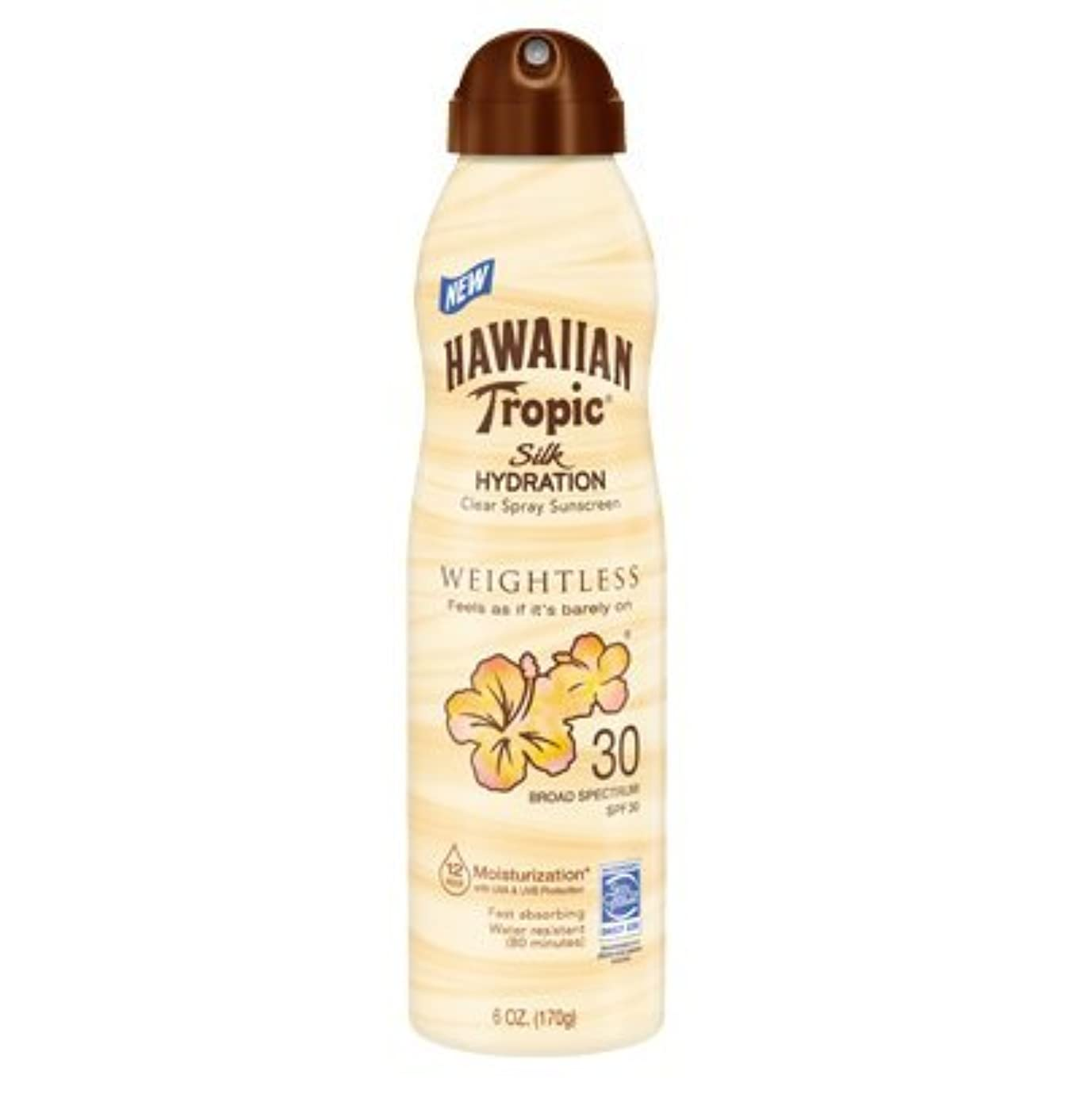 訴える毒問い合わせる【海外直送】ハワイアントロピック 12時間持続 日焼け止めミスト SPF30 (177ml) Hawaiian Tropic Silk Hydration Clear Mist Spray Sunscreen SPF 30, 6 fl oz