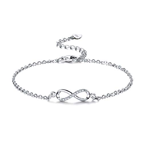 F.ZENI Women Bracelet 925 Sterling Silver Infinity Bracelet for Women with Jewellery Gifts Box