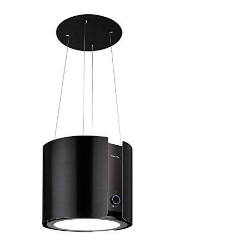 Klarstein Skyfall Smart - Inselhaube, App- und Gestensteuerung, 45 x 42 cm (ØxB), freihängend, Umluftbetrieb/Abluft, 3 Stufen, 402 m³/h, 200 W, LED Beleuchtung, EEK C, schwarz