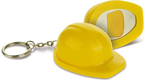 STOCK 100 PEZZI Portachiavi a forma di casco lavoro con cavatappi apribo