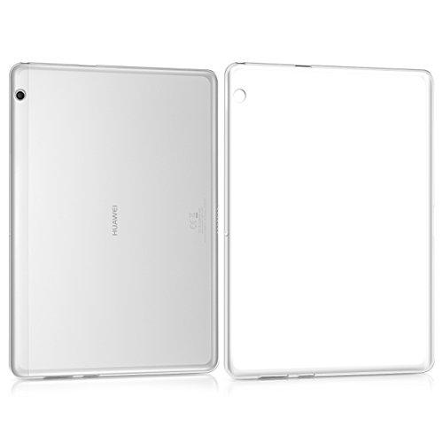 kwmobile Funda Compatible con Huawei MediaPad T3 10 - Carcasa para Tablet de Silicona TPU - Cover en Transparente