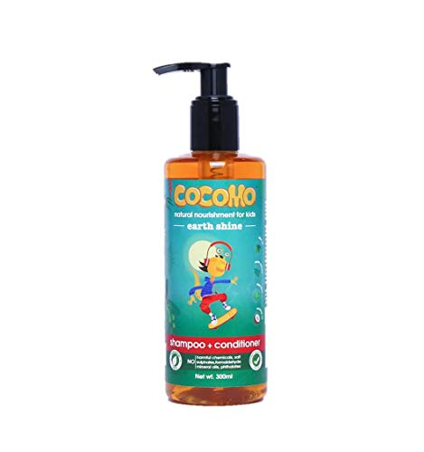 Cocomo Natural, Sulphate and Paraben Free Kids Shampoo & Conditioner - Earth Shine 300ml (Age: 4 yrs and Above)