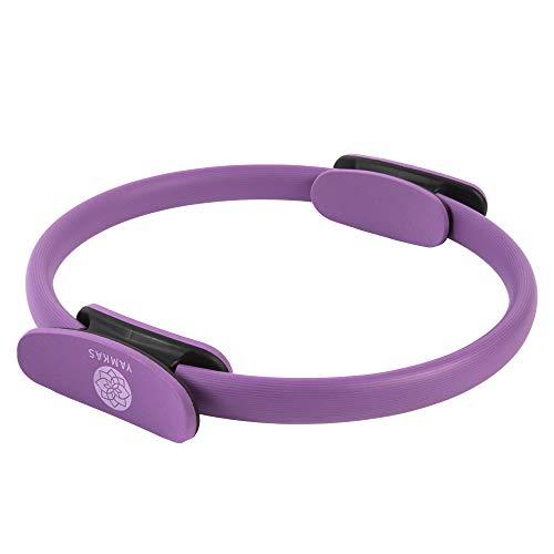 Yamkas Pilates Ring Ø38cm | Cerchio Yoga Magic Circle | Attrezzo Interno Coscia | Fitness Attrezzi Domestici per Addominali, Cosce e Gambe | Viola