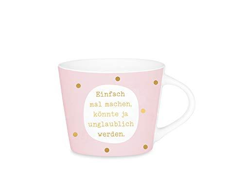 Grafik Werkstatt Espresso-Tasse mit Echtgold | Porzellan Tasse | 50 ml | Einfach mal machen