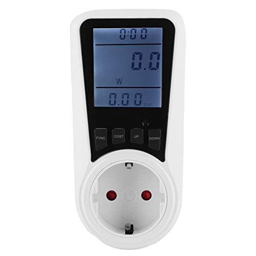 Pantalla de vataje 0W-3680W, Monitor de uso de electricidad, Medidor de energía con enchufe LCD, Accesorios eléctricos