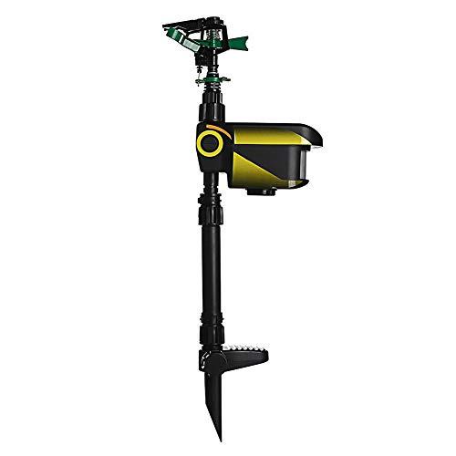 NITCHA14 Animal Repeller Motion Activated Garden Sprinkler Scarecrow Black