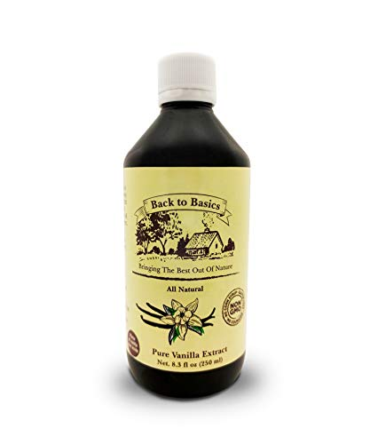 Back to Basics – All Natural - Pure Vanilla Extract – 8 oz – Mexican Vanilla – To Enhance Flavors in Cooking, Baking, and Dessert Making