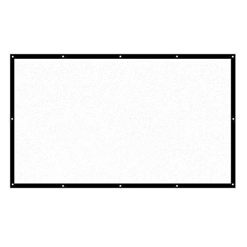 Great Features Of H150 150'' Portable Projector Screen HD 16:9 White Dacron 150 Inch Diagonal Video ...