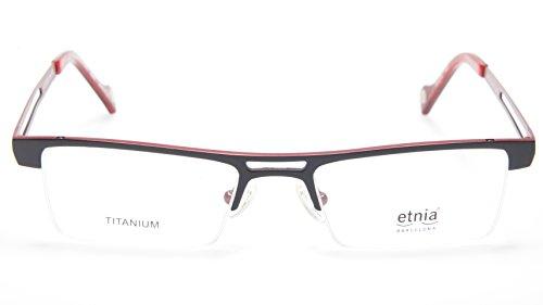 NEW Etnia Barcelona QUEBEC-BK/RD BLACK/RED EYEGLASSES 50-18-140 B27mm SPAIN