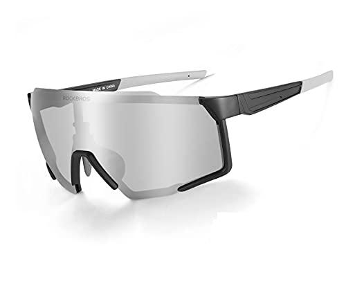ROCKBROS Fahrradbrille Polarisierte Brille UV 400 Schutz Sonnenbrille Sportbrille für Radfahren Angeln Golf Laufen Herren Damen