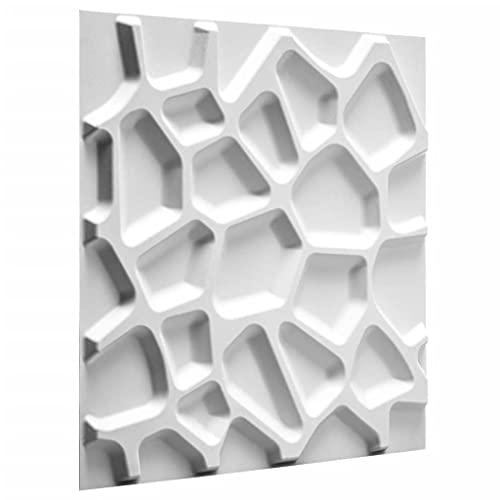 Pannello a parete 3D Gaps   Rivestimento Murale WallArt   12 Pannelli 3D a Parete per la Decorazione della Parete   3 m² Parete 3D - Pannelli Decorativi Interni da Muro 3D   Rivestimento Pareti 3D