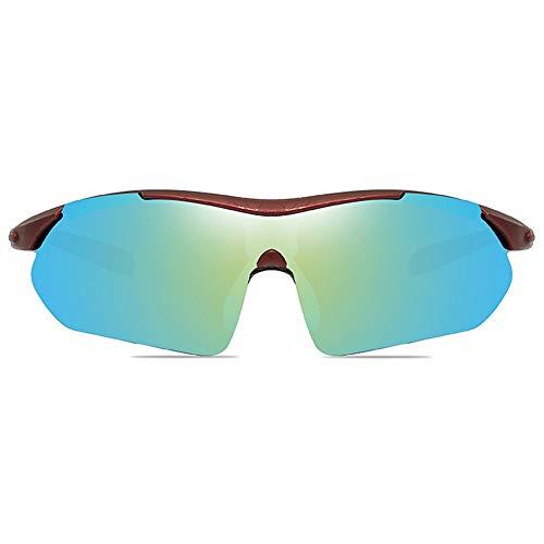 LCSD Gafas de Sol Ciclismo Al Aire Libre, Material De PC, UV400, Gafas De Sol De Colores, Azul Marino/Verde Amarillo, Hombres Y Mujeres con La Misma Media Gafas De Sol. (Color : Yellow Green)