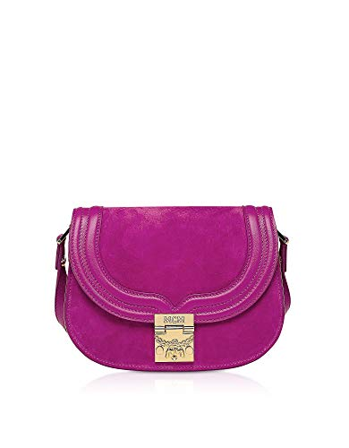 MCM Luxury Fashion Damen MWS8ATS94UK001 Violett Wildleder Schultertasche | Frühling Sommer 20