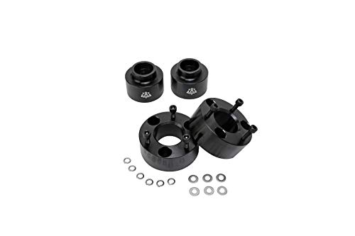 "AA Ignition Leveling Kit Front 3 Inches, 2 Inches Rear - Compatible with Dodge Ram 1500 2009-2018 4WD 4x4 - Truck 3"" Strut Lift Spacer Set Front 2"" Rear -Forged Aircraft Billet Aluminum Construction"