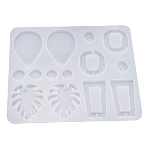 Silicone Mold DIY Crystal Multi-Style Epoxy Earrings Mould Jewelry Pendant Making Tool