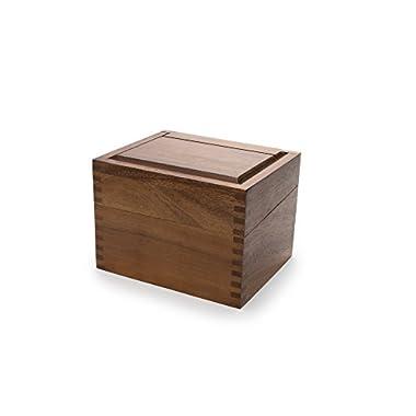 Ironwood Gourmet 28339 Saugatuck Recipe Box, Acacia Wood