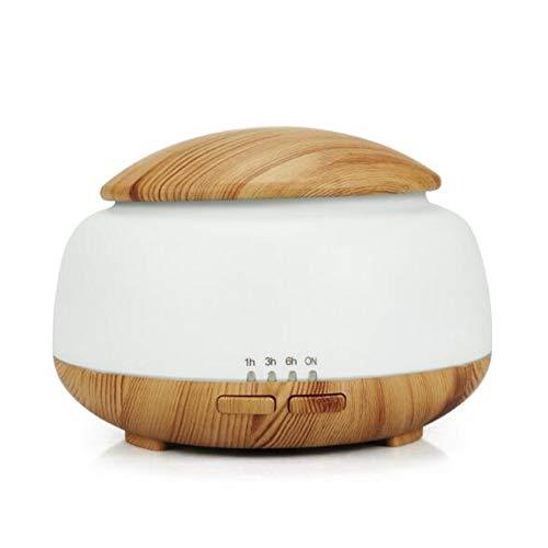 Preisvergleich Produktbild Aromatherapie-Maschine Haushalt Mini 300Ml Plug-In Bunten Diffusor Ultraschall Luftbefeuchter 7 Farbe Led-Licht Diffusor Timing-Funktion Wassermangel Stromschutz Stumm Holzmaserung, Lightwoodgrain