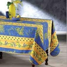 Inconnu Tovaglia provenzale antimacchia Mimosa Limone Lavanda Blu 1,50 m x 2,40 m Blu