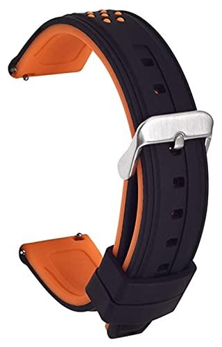 Lzpzz Banda de Reloj de Silicona Silicona Silicona Caucho de reemplazo de liberación rápida 20 mm, 22 mm, 24 mm, 26 mm de Reloj (Color : Orange, Size : 26mm)