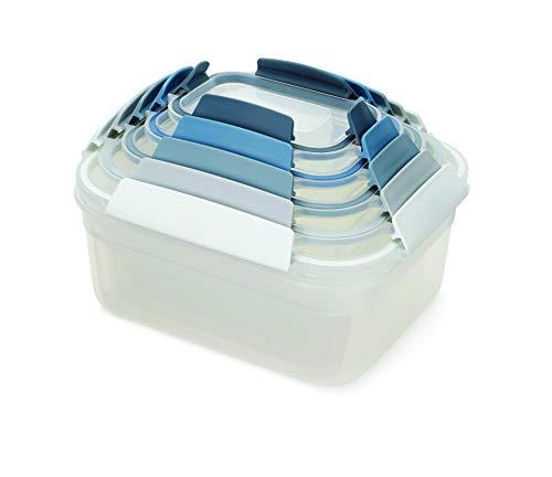 Joseph Joseph Conjunto de recipientes de armazenamento de alimentos de plástico com trava hermética à prova de vazamento, 10 peças, céu