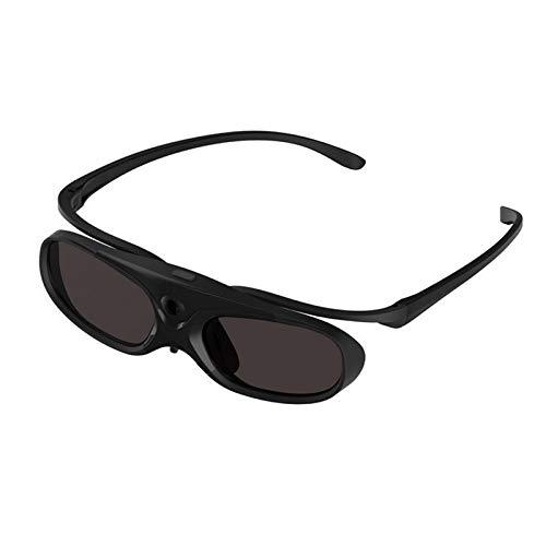SNOWINSPRING Obturador Activo Desmontable Gafas 3D Clip de Gafas 3D Recargables para DLP Link Proyector
