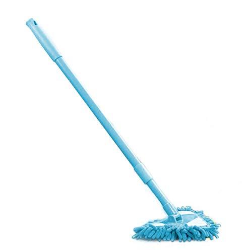 Augneveres Reinigungsmop einziehbar, dreieckig, Mini-Staubwischer, multifunktional, Teleskop-Reiniger, mit austauschbaren Scheuerpads für Haushalt, Küche, Badezimmer blau