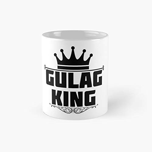Gulag King Classic - Taza de café divertida, 11 oz