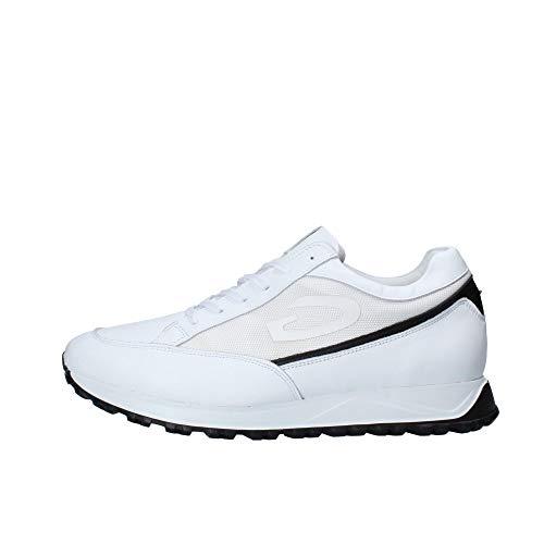 Alberto Guardiani Art.101040 Sneaker Scarpa Sportiva da Uomo in Pelle Bianca (Numeric_41)