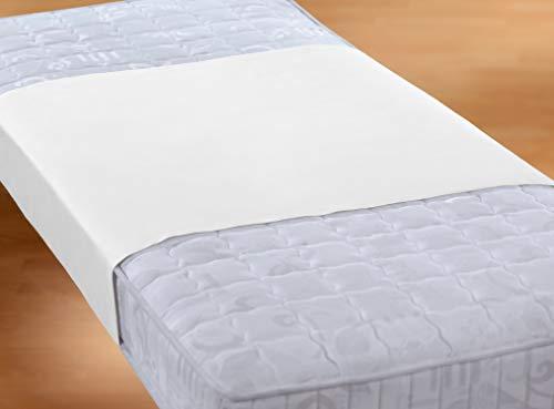 Biberna Sleep & Protect 0809840 Sábana Bajera Adjustable Molton con Acabado Silver Protect (Impermeable a Sangre, orina y Agua), Antibacteriano 1x 90x160 cm, Blanco, Tela, 90x 160 cm