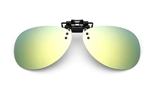 JIUPO Desmontable Lens Aviador Gafas de sol con clip Anti reflejante Protección uv, para conducción/pesca, Unisexo