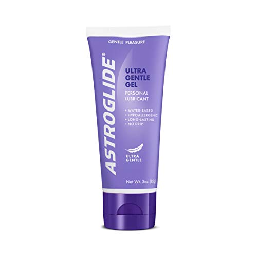 Astroglide Sensitive Skin Gel Personal Lubricant Ultra Gentle Gel Allergy Tested Dermatologist Reviewed : Size 3 Oz. (Pack of 6) by Astroglide