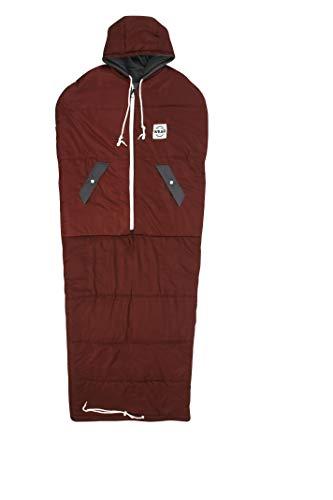 VINSONMASSIF Wearable Sleeping Bag for Camping, Hiking & Outdoors, Lightweight Sleeping Bag (Burgundy)