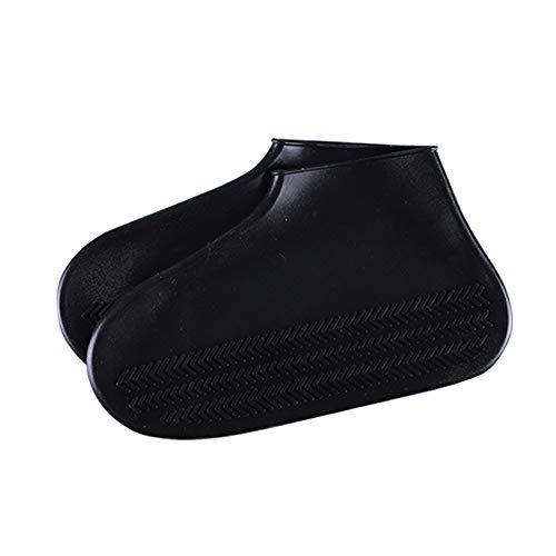 iClosam Überschuhe Shoe Covers Regenüberschuhe Stiefel Cover Overshoes Schuhüberzieher Outdoor Wiederverwendbare und rutschfeste Überschuhe für Männer und Frauen