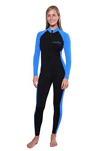 EcoStinger Full Body UV Swimsuit Stinger Suit Dive Skin Chlorine Resistant UPF50+, Black Blue, XX-Large