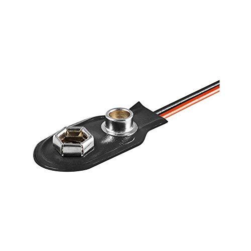 Batterieclip für 9-V Blöcke, I-Form Kunststoffausführung