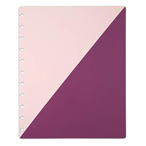 TUL Discbound Notebook Covers, Letter Size, Pink/Purple, Pack of 2 Covers