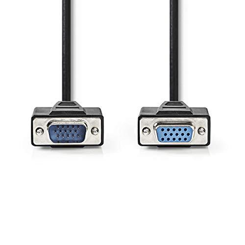 TronicXL Verlängerung VGA Kabel Stecker Verlängerungskabel für Beamer KVM Monitor PC Computer