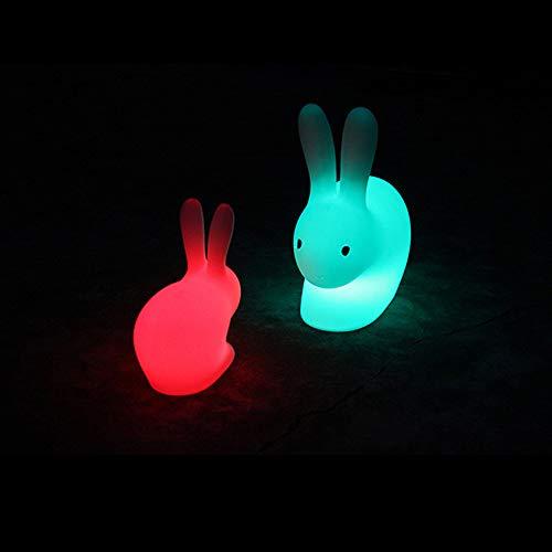 Dekorative Leuchte Gartenleuchte Große Dekofigur Hase Beleuchtet Shining Rabbit (LED, Wiederaufladbare,Höhe 53 Cm, Farbwechsel Hasenlampe, UV- & Frostbeständig, Deko Für Innen Und Außen)