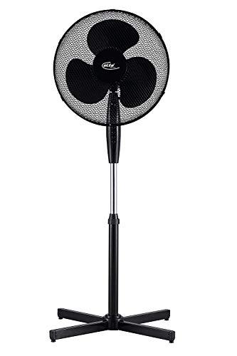 Ecoix Standventilator 40 Watt, Ø 40 cm | Windemaschine | Ventilator | Bodenventilator | Fan | 3 Stufen | Höhenverstellbar